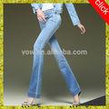 2014 nuevo estilo llamaradas de la mujer pantalones vaqueros, sexy de luz azul largo pantalones de las mujeres en los pantalones vaqueros ajustados fotos por favor dril de algodón pantalones vaqueros de las señoras