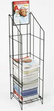Wire Literature Stand for Floor magazine rack