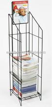 Wire Literature Stand for Floor magazine rack