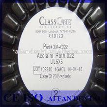 [ AiFan Dental ] Best price 5*5 clear dental orthodontic transparent ceramic brackets