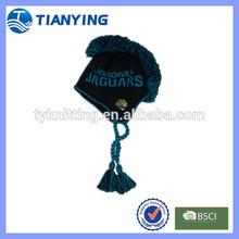mens fashion jacquard knitted mohawk earflap hat