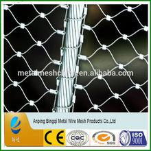 Reverse twist of galvanized bird aviary mesh