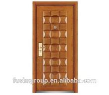 Surface finished steel wooden door swing open style