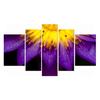 Fancy Purple Lotus Flowers Canvas Prints Pure Buddha Symbol Picture Wall Art