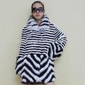 china importação roupa alinhado longo casaco de pele com gola