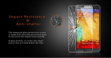New Product 2.5D 9H Screen Guard For Samsung Note 3 Cellphone Accessories Packing