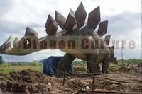 Low Price Theme park decoration large animatronic fiberglass dinosaurs statues