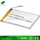 high capacity 8043125 3.7v 6000mah litium polymer battery for PDA,DVD Player,Tablet PC