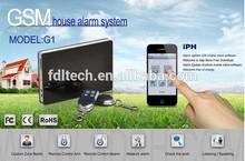 GSM Quad Band Alarm GSM & iPhone + Android APP Remote Control G1
