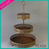 antique bronze 3 layers metal fruit plate