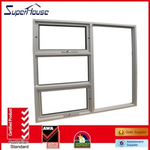 automatic awning window with fixed panel