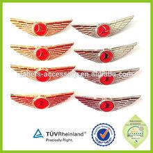 Stewardess metal 3D wing badges airline pilot uniforms custom