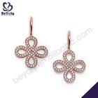Cross design rose gold sterling silver stamped 925 earrings