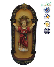 Resin religious the son of God wall holy water font