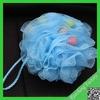 Comfortable plastic personal skin care massage, bath sponge for women, PE mesh sponge Factory