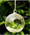 hecho a mano al por mayor de vidrio transparente bola de navidad adornos