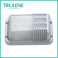 Aluminum square outdoor wall bulkhead E27