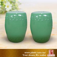 Modern design good quality green glazed diamond stool for outdoor decor