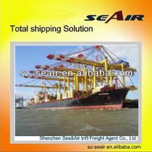 bulk sea freight service from Shenzhen or Guangzhou to Europe