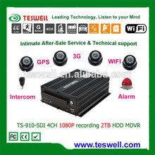 1080p manual car camera hd dvr 4ch free mobile dvr tracking software ,lockable metal shell design mdvr