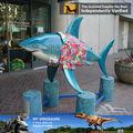 Meu- dino decorado de resina artificial tubarões animais estatueta