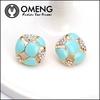 Alloy Jewelry Turtle Ship Shape Sky Fruit Blue Stud Earrings of Crystal