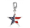 New product 2014 wholesale fashion metal USA flag charms & charm enamel pentagram pendant beads for sale