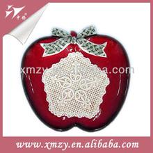 Decorative Apple Christmas Plate Decorative Tableware