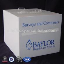 White Donation Box/Acrylic Donation Case