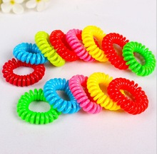 New arrive fashion multicolor plastic telephone wire hair band for girls