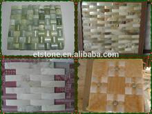 Mosaic Stone/Marble Medallion for Floor/Round Glass Mosaic Tiles,jade mosaic tile