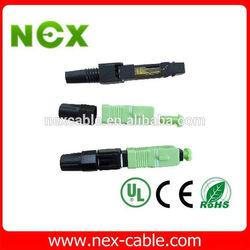 quick SC/APC Optical Fiber Fast Connectors,FTTH drop cable SC fiber optic fast connector