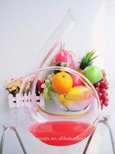 Hot sale hand blown art decorative wine glass decanter 1100ml/37oz(glass factory had passed FDA/EU/SGS)