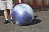 Self-inflating balloon mini moon model exhibition