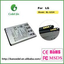dry battery BL-52UH for LG D285 li ion external battery