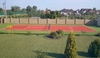 10mm red synthetic grass tennis courts with plastic grass
