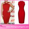 charming design short red evening bodycon dress