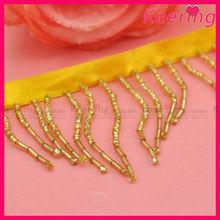 Wholesale new design gold beaded trim for wedding dress WTP-1247
