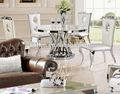 2014 redonda de mármore mesa de jantar com base de aço inoxidável e moldura ah1065