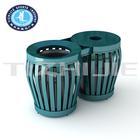 Wholesale Price Steel Garbage Container for Amusement Park,Garden Wholesale Recycling Bins,Hot Sale Steel Public Dust Bin