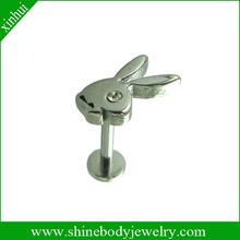 popular playboy lip piercing labret body jewelry