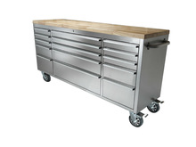 72 inch stainless steel tool cart with wheels/garage tool cart with wooden top
