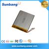Sunb327090 deep cycle rechargeable 3.7V 2500mAh lipo battery