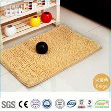 NEW Acrylic white good quality foot shape bath mat / Chenille mat-QINYI