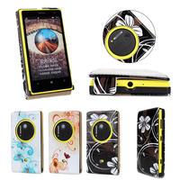 Flower flip cover for nokia lumia 1020 mobile phone