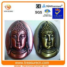 Custom Dark copper buddha statue keychain pendant
