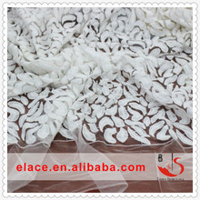 Newest style chemical white voile lace fabric fabric samples of lace for dresses