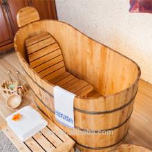 Quality good healthy short bathtub, wooden barrel bathtub