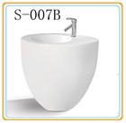 Ceramic one piece round pedestal basin
