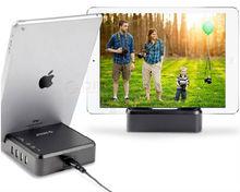 Portable 4 port usb desktop charger ,OPC-4US 4 port desktop charging station with Storage base,multiple port smartphone case